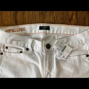 J Crew Hipslung Stretch White Jeans